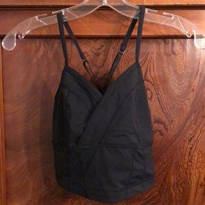 Lululemon black bra top w/ adjustable straps sz 8
